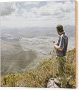View From Mt Zeehan Tasmania Wood Print