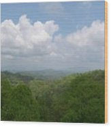 View From Ober Gatlinburg Wood Print