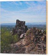 View From Piestewa Peak Wood Print