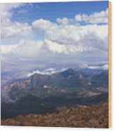 View From Pikes Peak 1964 Wood Print
