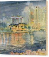 View From Quay Singapore Wood Print