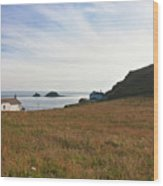 View From St Helen's Oratory Cape Cornwall Wood Print
