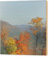 View From Sunday River Wood Print