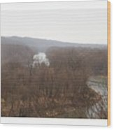 View From The Bluff Wood Print