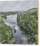 View From The Monksville Bridge Wood Print