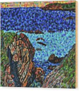 View From The Pacific Coast Highway Wood Print