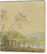 View From The Packet Wharf At Frenchtown Looking Down Elk Creek Wood Print