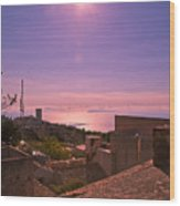 View From The Top In Sicily 2 Wood Print