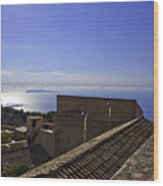 View From The Top In Sicily Wood Print