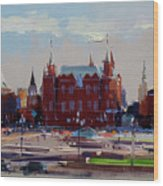 View From The Window Of The Hotel Metropol. Moscow. Manezhnaya Square. Wood Print