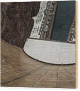 View From Top Of Hoover Dam Wood Print