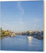 View From Tower Bridge Wood Print