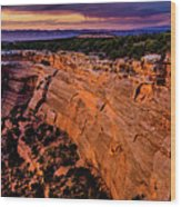 View From Upper Ute Canyon, Colorado National Monument Wood Print