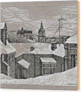 View From Window. Kiev Wood Print