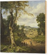 View In Berkshire County, Massachusetts, Clearing Off After A September Storm Wood Print