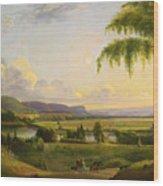 View Near Deerfield Wood Print
