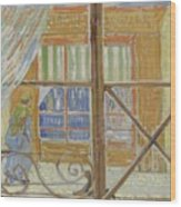 View Of A Butcher S Shop Arles, February 1888 Vincent Van Gogh 1853  1890 Wood Print