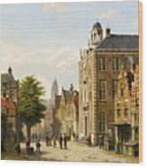 View Of A Dutch Street In Summer Wood Print