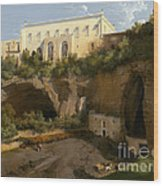View Of A Villa, Pizzofalcone, Naples Wood Print
