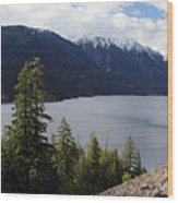 View Of Anderson Lake Wood Print by Pierre Leclerc Photography