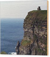 View Of Aran Islands And Cliffs Of Moher County Clare Ireland  Wood Print