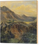 View Of Bagneres De Luchon. Pyrenees Wood Print