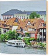 View Of Bamberg Riverfront Wood Print