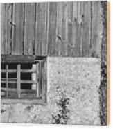 View Of Barn Exterior Wood Print