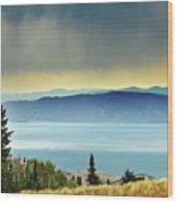 View Of Bear Lake Wood Print by Utah-based Photographer Ryan Houston