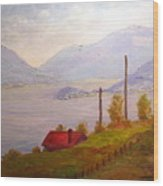 View Of Bellagio Lake Como Italy Wood Print