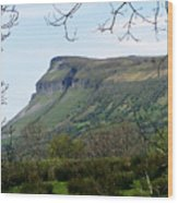 View Of Benbulben From Glencar Lake Ireland Wood Print