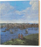 View Of Boston, 1738 Wood Print