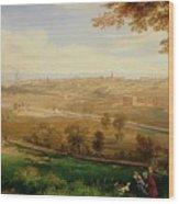 View Of Bradford Wood Print by William Cowen