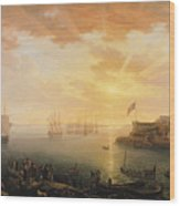 View Of Brest Harbor Wood Print