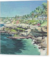 View Of Brockton Villa, La Jolla, California Wood Print