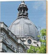 View Of Brompton Oratory Dome Kensington London England Wood Print