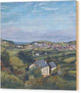 View Of Bude In Cornwall Wood Print