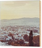 view of Buildings around Athens city, Greece Wood Print