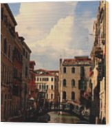 View Of Canal In Venice Wood Print