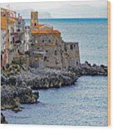 View Of Cefalu Sicily Wood Print