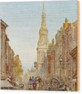 View Of Church Of Mary Wood Print