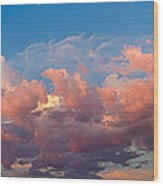 View Of Clouds In The Sky Wood Print