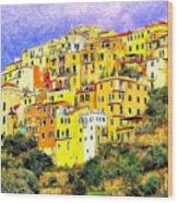 View Of Corniglia - Cinque Terre Wood Print