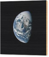 View Of Earth Taken From The Apollo 13 Wood Print