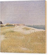 View Of Fort Samson Wood Print by Georges Pierre Seurat