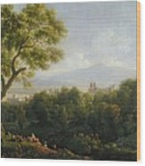 View Of Frascati Wood Print