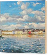 View Of Galway Harbour Wood Print