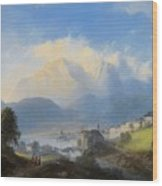 View Of Gmunden On Traunsee Wood Print