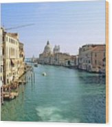 View Of Grand Canal In Venice From Accadamia Bridge Wood Print