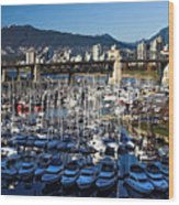 View Of Grandville Island Vancouver Canada Wood Print